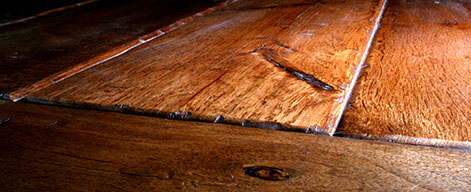 Rustic Hand Hewn California Chestnut With Warm Cherry Stain