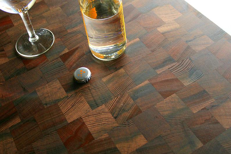 Reclaimed redwood butcher block for Reclaimed wood furniture bend oregon